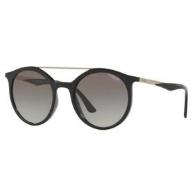 2f7de5702a530 Oculos Sol Vogue Vo5242s W44 11 50 Preto Brilho L Cinza Degr