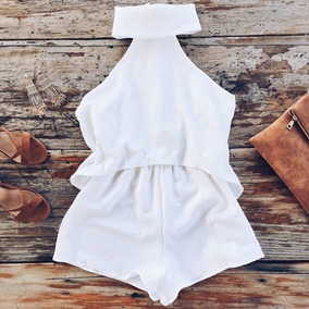 Playsuit Blanco Original Mura Boutique Australia!