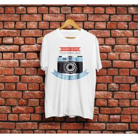 Camiseta Ajuste Seu Foco Frases Fotografia Camisa Fotografo