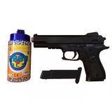 Pistola Airsoft Glock .40 6 Mm 100 Bbs Com Ponta Laranja