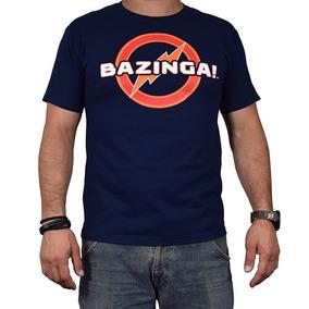 Playera Big Bang Theory Azul Bazinga Hombre