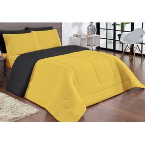 b64544aea6 Edredom Amarelo Solteiro - Roupa de Cama Edredom no Mercado Livre Brasil