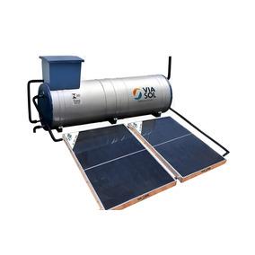 Kit Aquecedor Solar Acoplado 300 Lts Com 2 Coletores Viasol