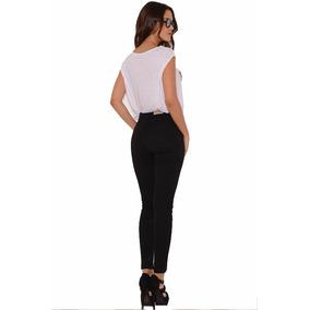 Pantalón Jeans De Mujer Chupin Tiro Alto Color Negro 1f22f9585500