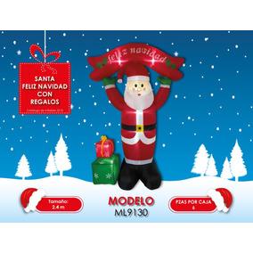 Inflable Navideño Santa Con Regalos 2.4 Mts