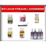Kit Laca Vitral Monitor X 10 Unidades + Accesorios - 15 Art