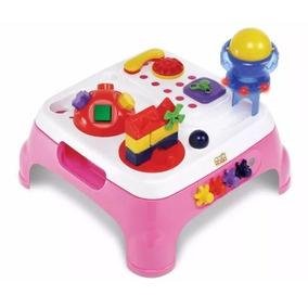 Brinquedos Educativos Mesa Atividades Com Som Menina Rosa