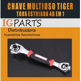 Chave Torx Estriada Ferramenta Multifuncional Tiger 48 Em 1