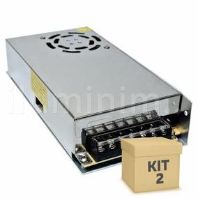 Kit 2 Fonte Chaveada 12v 20a 250w Cftv Fita Led Frete Grátis