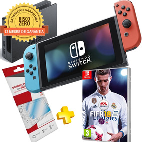 Nintendo Switch Neon + Jogo Fifa 2018