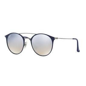 583c64bb21e12 Oculos Sol Ray Ban Rb3546 90109u Azul Cinza Espelhado Degrad