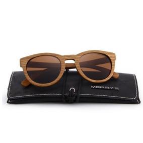 Óculos Sol Merrys Original Madeira Polarizado Uv Lentemarrom ad6fe4af33