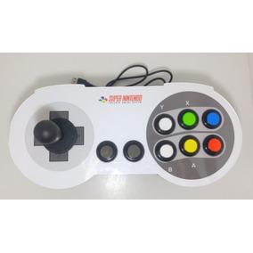 Controle Arcade Fliperama Snes Super Nintendo - Pc Jogos Usb