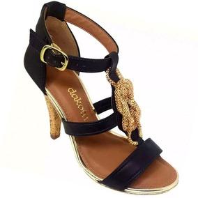 21a5925bc Sandália Com Glitter Salto Fino Dakota - Sapatos no Mercado Livre Brasil