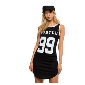 Roupa E Roupa Plus Size Vestido Curto Regata Hustle 99
