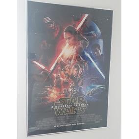 Poster Star Wars Despertar Da Força Com Moldura