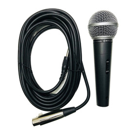 Microfone Dinâmico Profissional Metal Wvngr M-58 - Lefa