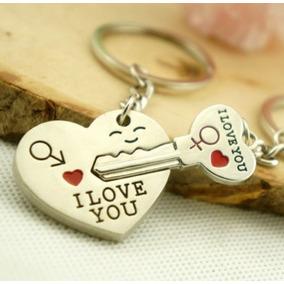 Chaveiro Namorados Coração Love Chave Do Amor