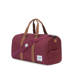 Bolso Herschel Supply Novel Windsor Wine/tan Synthetic Leath