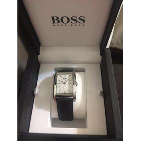 Reloj Hugo Boss P/ Hombre Cuadrado Piel Nuevo Blakhelmet E