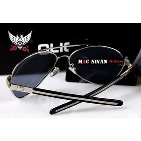 54862eb4cd9a2 Óculos De Sol Militar Masculino Polarizado Policia Prata Top