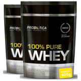 02 Whey 100% Pure Refil 825g Probiótica C/ Nota Fiscal