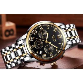 Relógio Masculino Lige Original+brinde + 1 Ano De Garantia