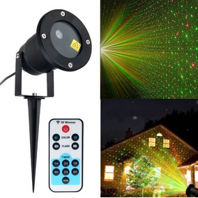 e1dabaab05f Proyector Luces Navideñas Laser Exterior Con Control Y Base