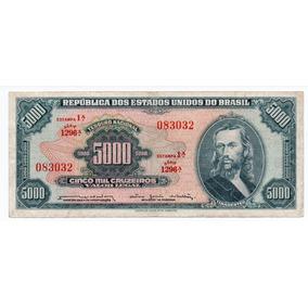 Nota Antiga Dinheiro Cédula Rara 5 Mil Cruzeiros - Escassa