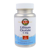 Orotato De Lítio 5mg 60 Caps Ultra Lithium Orotate