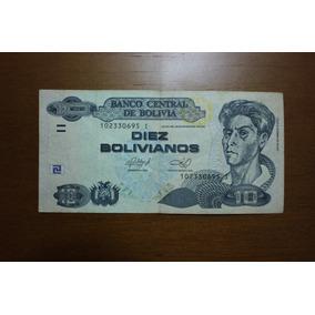 Nota 10 Bolivianos 86 A 2015 Série I ( Conservada)