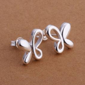 Brinco Borboleta Pequena Prata 925