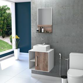 Gabinete Balcão Banheiro Quadratta Uv +cuba Q32+espelheira #
