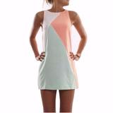 Vestido Tricolor De Tumblr