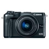 Canon Camara Eos M6 24.2m,3 Touchscreen Lcd,vídeo,hdmi,black