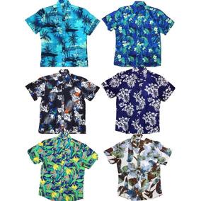 Kit 4 Camisa Estampa Manga Curto Masculina Algodao