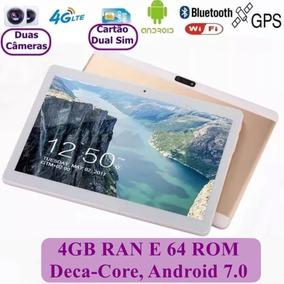 Tablet 10 Polegadas 4gb Ram 64 Rom 10 Núcleos 3g 4g Dourado