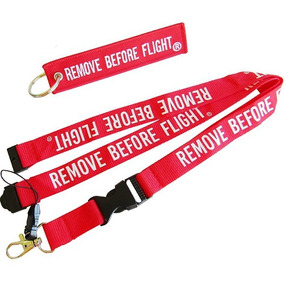 Envío Gratis Llavero & Lanyard Remove Before Flight ®