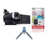Zoom Filmadora Digital Portatil Q4 + Mini Tripode + Sd 32gb