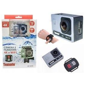 Câmera Filmadora Esporte 4k Wifi Youtube Tomate Mt1091 1080p