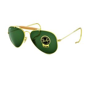 570d6603ca39d Óculos Ray Ban,caçador,haste De Mola,rb3030,lentes Vidro Sol ...