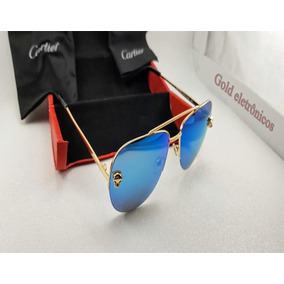 4bb324b4f12 Oculos De Sol Cartier Eyewear - Óculos no Mercado Livre Brasil