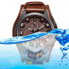 Relógio Curren 8225 Couro Original Tendencia 2019 Garantia