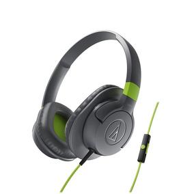 Fone De Ouvido Audio Technica Ath Ax1is Com Mic Cinza