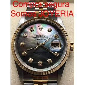 Rolex Datejust Oro Y Acero Cristal Safiro Impecable Con Caja