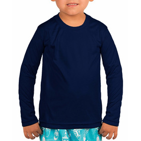 Kit 5 Camisa Infantil Térmica Manga Longa Proteção Uv