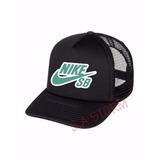 Boné Trucker Nike Sb - Verde Marca Famosa Telinha Aba Neymar e56996ddd41
