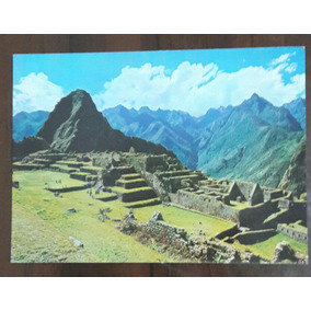 Cartão Postal Antigo Machu Picchu Zona Industrial Peru 1981