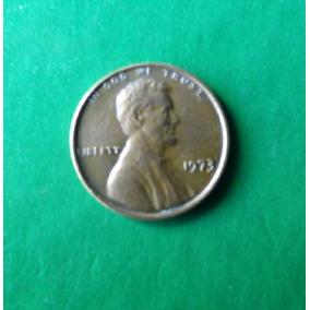 Moeda 1 Cent 1973 - Estados Unidos - Raro - Ótimo Estado
