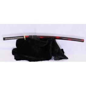 Espada Katana Samurai Afiada Red Damascus